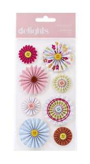 American Crafts   Hello Sunshine Collection   Delights   3 Dimensional