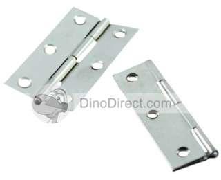 Steel Hardware Cabinet Full Mortise Hinge 2Pcs   DinoDirect