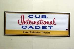 Vintage Cub Cadet IH Lawn Mower Garden Tractor Mini Banner 11 x 29