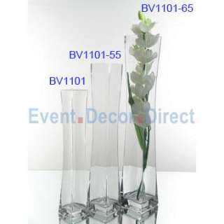 22 Square Glass Vase Single Piece [EDD GLASS BV1101 55]