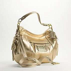 Coach Poppy Leather Jazzy Hobo 15289, Gold: Clothing
