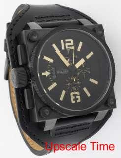 Welder Black Dial Gold Index Mens Watch K23 1779 CB BK GD