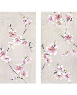 43287 Gallery Oriental Blossom Pink,White,Grey null Canvas