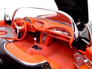 1959 Chevrolet Corvette Diecast Model Black 1/18 Die Cast Car By