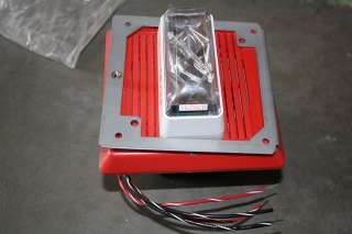 IS FOR ONE EST EDWARDS 757 7A RS70 RED FIRE ALARM SPEAKER STROBE