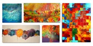 CANVAS SET OF ORIGINAL FINE ART CONTEMPORARY PAINTINGS BY ARTIST C