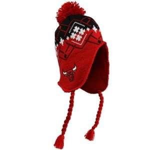 adidas Chicago Bulls Red Black Tassel Knit Beanie Sports