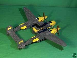 Lego Custom Model Airplane P 38 Lightning Instructions