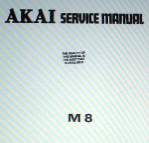 AKAI M 8 4 TRACK TAPE RECORDER SERVICE MANUAL BOUND ENG