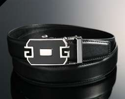 Black / Brown Dress Leather Belts with Auto Lock Buckle / Up to 40 IN