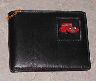 Genuine Leather Wallet Emblem Chevy 1934 Hot Rod Car Bi