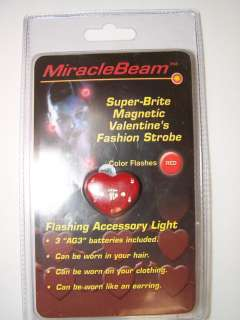 VALENTINES DAY LED HEART MAGNET PIN RESALE NEW EARRING CARD PARTY