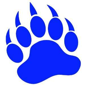 GRIZZLY BEAR PAW PRINT   Vinyl Decal Sticker 5 BLUE