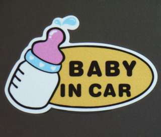 Color Baby in Car Sticker Vinyl Decal Truck Boat