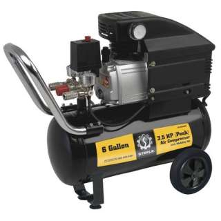 Steele Products 6 Gallon Air Compressor with Wheel Kit Tools
