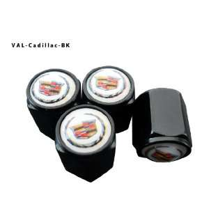 Valve Caps Tire Cap Stem for Cadillac Wheels (Pack of 4) Automotive