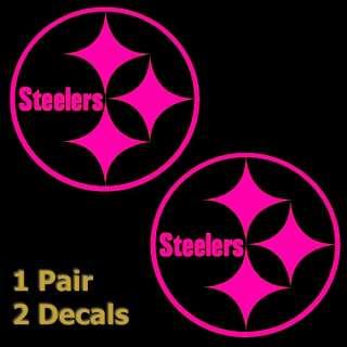Hot Pink Steelers 3 inch Logo Decals Window Stickers