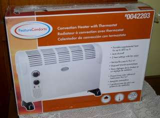 Feature Comforts Convection Space Heater w/ Thermostat 839724003246