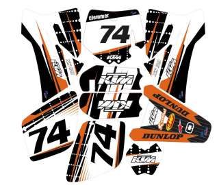KTM 85 / 105 GRAPHIC KIT STICKER VINYL CUSTOM FRONT PLATE TEMPLATE