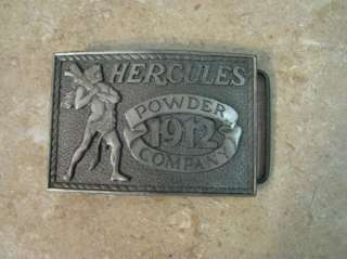 Hercules Powder Company BELT BUCKLE 1975 Silver/Pewter?