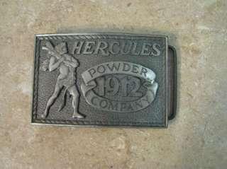 Hercules Powder Company BELT BUCKLE 1975 Silver/Pewter?