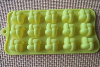 15 Hole Knot Shape Silicone Mold Cake Moulds Soap Molds Jelly Mold 1
