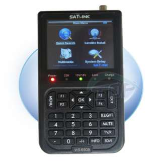 SatLink LCD DVB S FTA Digital Satellite Finder Meter WS 6908 CA