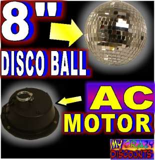 DISCO BALL AC MOTOR glass mirror 1 rpm dj band stage