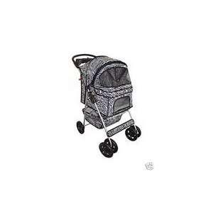 Classic Zebra 4 Wheel Pet Stroller