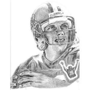 Joe Montana San Francisco 49ers Lithograph Sports