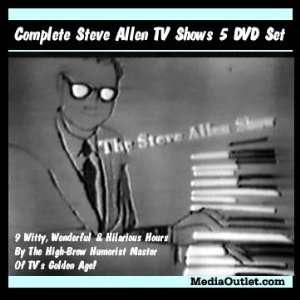 Steve Allen Video Complete 5 Disc Set Old Time TV Shows