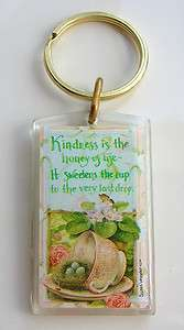 Susan Wheeler Tea Cup Holly Pond Hill Key Ring Chain