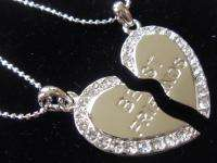 Necklaces Best Friend Heart Friendship Bff Crystal