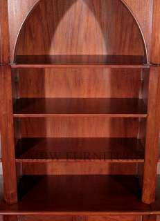 Solid Pecan Gothic Sectional 11Ft Open Bookcase Cabinet tbcs006