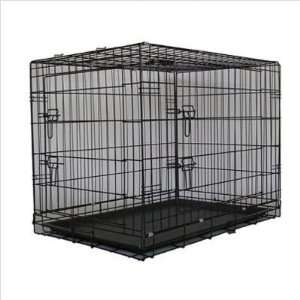 Two Door Folding Metal Dog Crate Size Small (24 H x 30