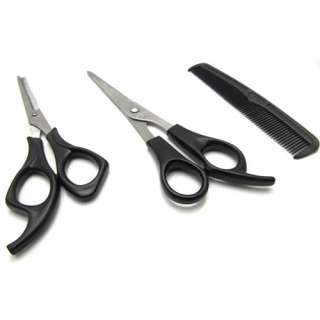 Cutting Thinning Hairdressing Shears Scissors Comb Set Barber Tool