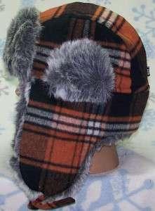 Russian Plaid Winter Ear Flap Hat,Trapper,Ski,Beanie,Earflap,# 132