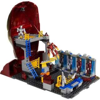 MEGA Bloks Iron Man 2   Hall of Armor Playset Building Blocks & Sets