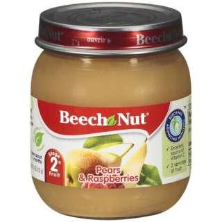Beech Nut Pears & Raspberries Stage 2 Fruit, 4 oz Infant