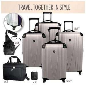 Heys USA His & Hers Luggage Sets Silver