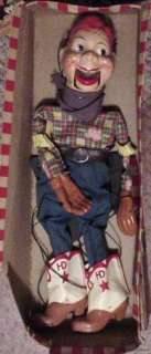 VINTAGE CLEAN 1950s HOWDY DOODY MARIONETTE STRING PUPPET   RARE FIND