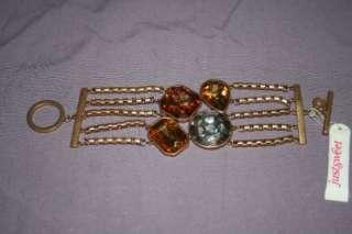 JENNIFER LOPEZ Huge Crystals Earrings & Bracelet Set NEW $95