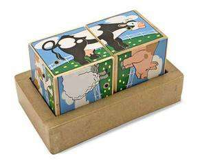 Melissa and Doug # 1196 Wooden Farm Animals Sound Blocks 000772011969