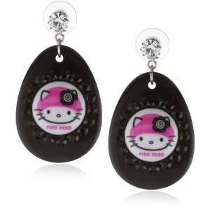 TARINA TARANTINO Hello Kitty Pink Head Crystallized Mod Earrings