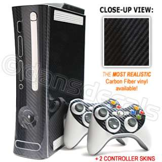 CARBON FIBER SKIN for Xbox 360 system faceplate mod kit