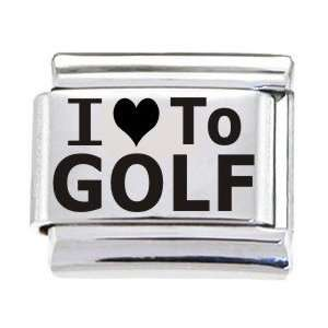 Body Candy Italian Charms Laser I Love To Golf: Jewelry