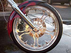 CHROME Custom Motorcycle Wheel 4 Harley Bagger Softail