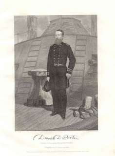 Civil War Union Admiral David Dixon Porer 1862 Prin |