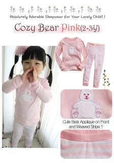 NWT Vaenait baby Toddler Kid Boy Girls Sleepwear SetCozy Bear Pink
