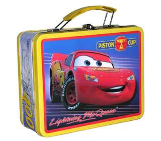 Disney Cars Piston Cup Champion Metal Tin Lunch Box Bag